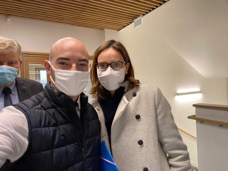 Pierre Joncour, directeur de la MFR du paysage, a rencontré Amélie de Montchalin, ministre de la Transformation et de la Fonction publiques.